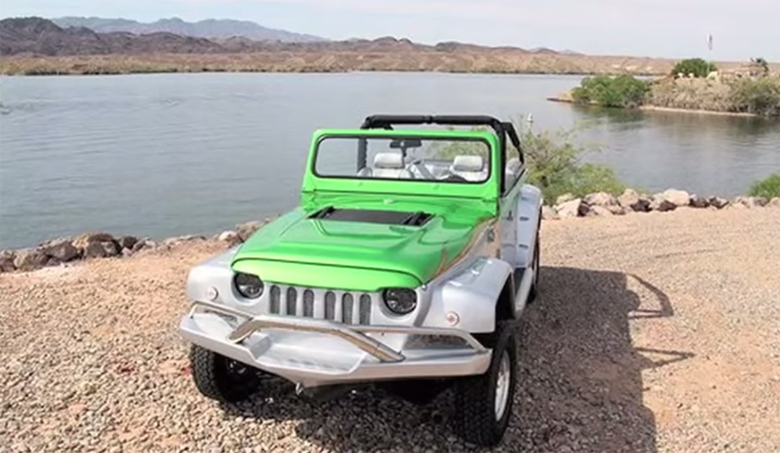 it looks like a jeep but goes like a speedboat the world 39 s fastest amphibious car rum and. Black Bedroom Furniture Sets. Home Design Ideas